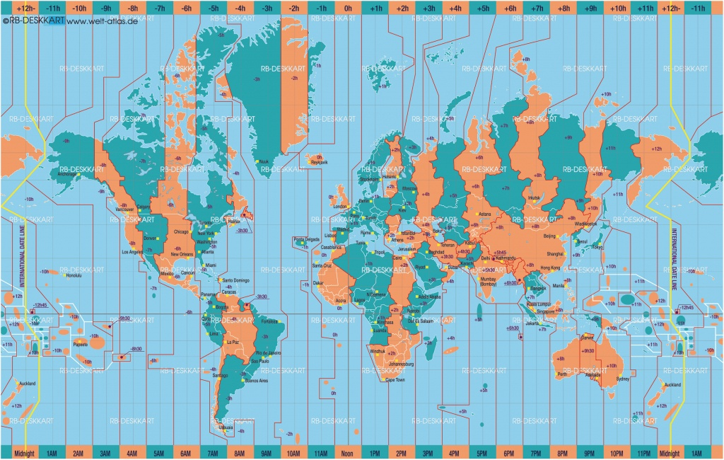 Printable World Time Zone Maps And Travel Information | Download - World Map Time Zones Printable Pdf