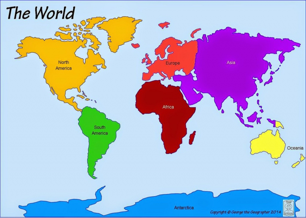 Printable+World+Map+7+Continents | Computer Lab | World Map - Printable Map Of Continents