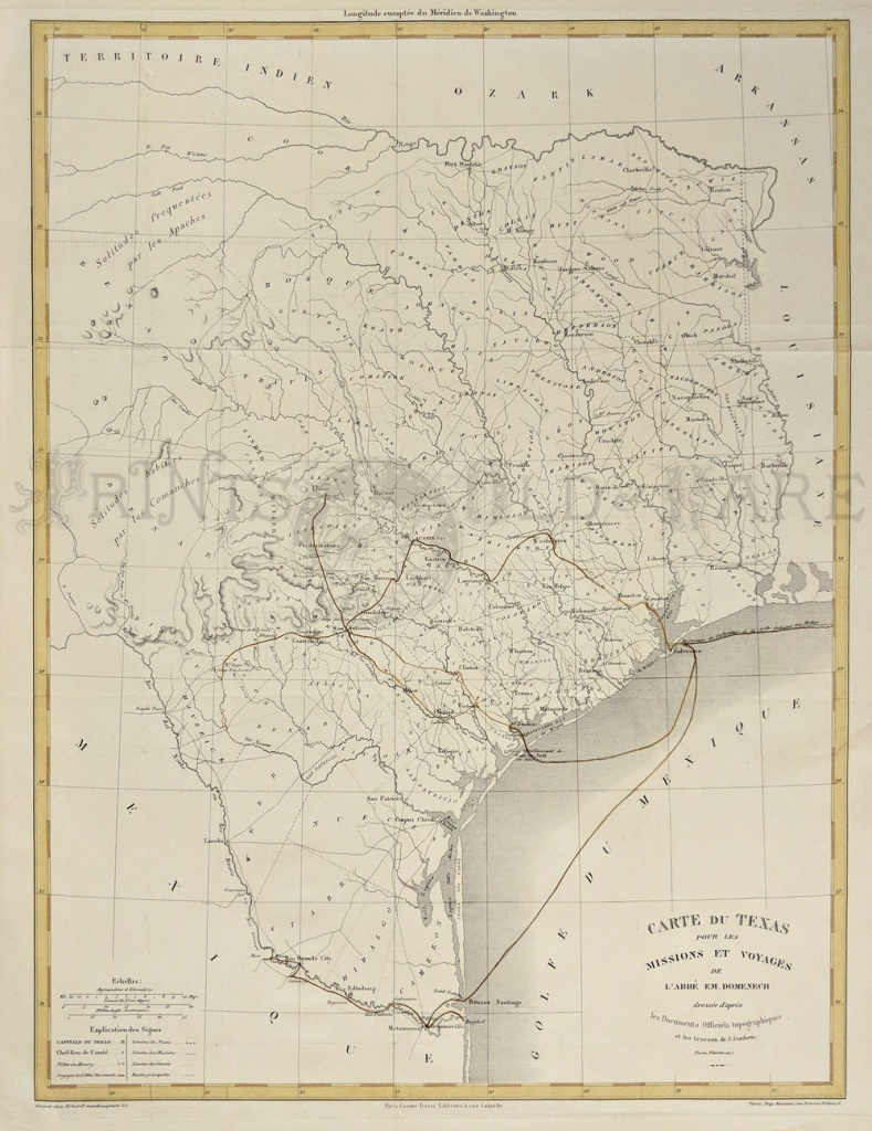 Prints Old & Rare - Texas - Antique Maps & Prints - Old Texas Maps Prints