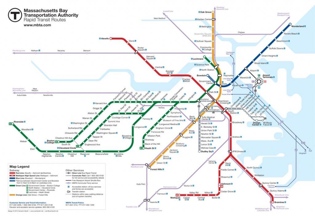 Project: Boston Mbta Map Redesign   Transit Maps Worldwide   Subway - Mbta Subway Map Printable