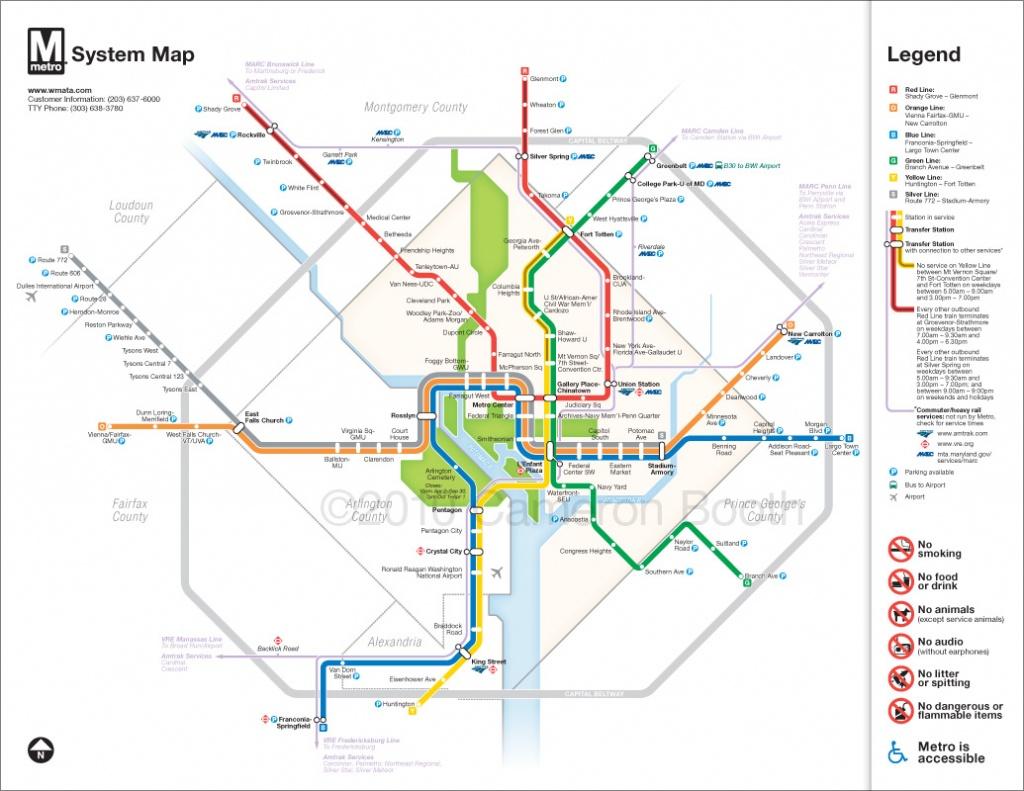 Project: Washington Dc Metro Diagram Redesign – Cameron Booth - Printable Washington Dc Metro Map