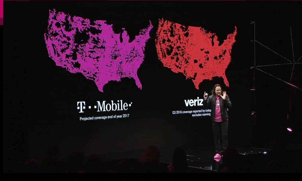 Projected End Of 2017 Coverage Map : Tmobile - T Mobile Coverage Map Texas