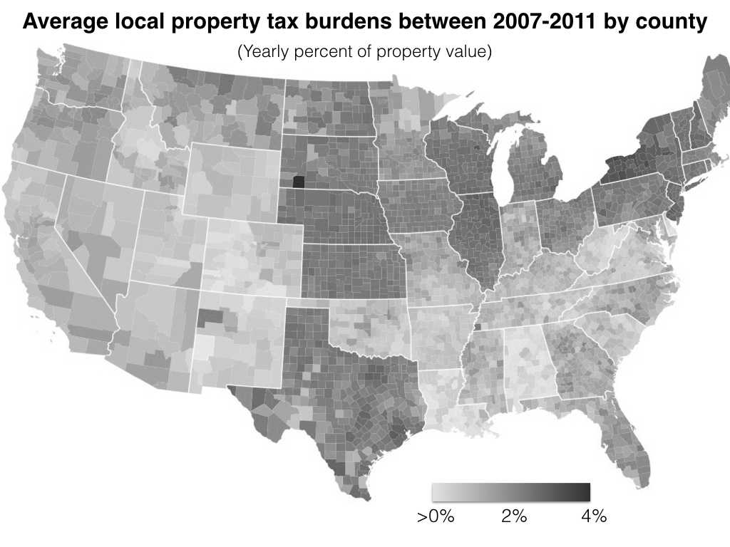 Property Tax In The United States - Wikipedia - Texas Property Tax Map
