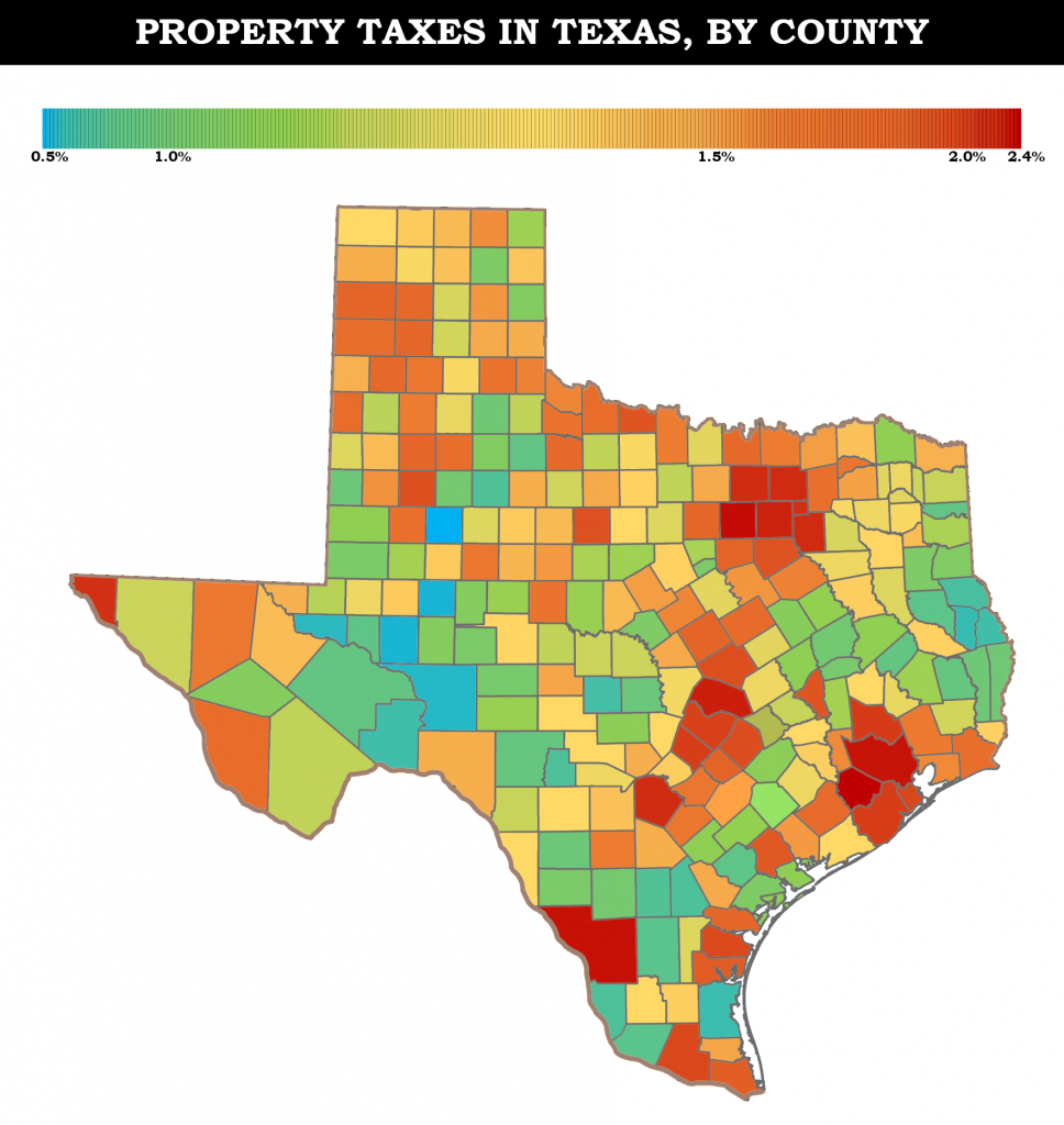 Property Taxes In Texas | Maps - Texas Property Tax Map