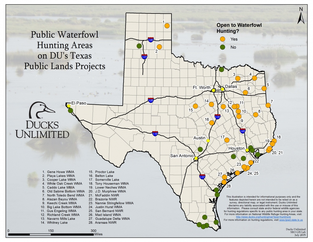 Public Hunting On Du Projects In Texas - Texas Hunting Map