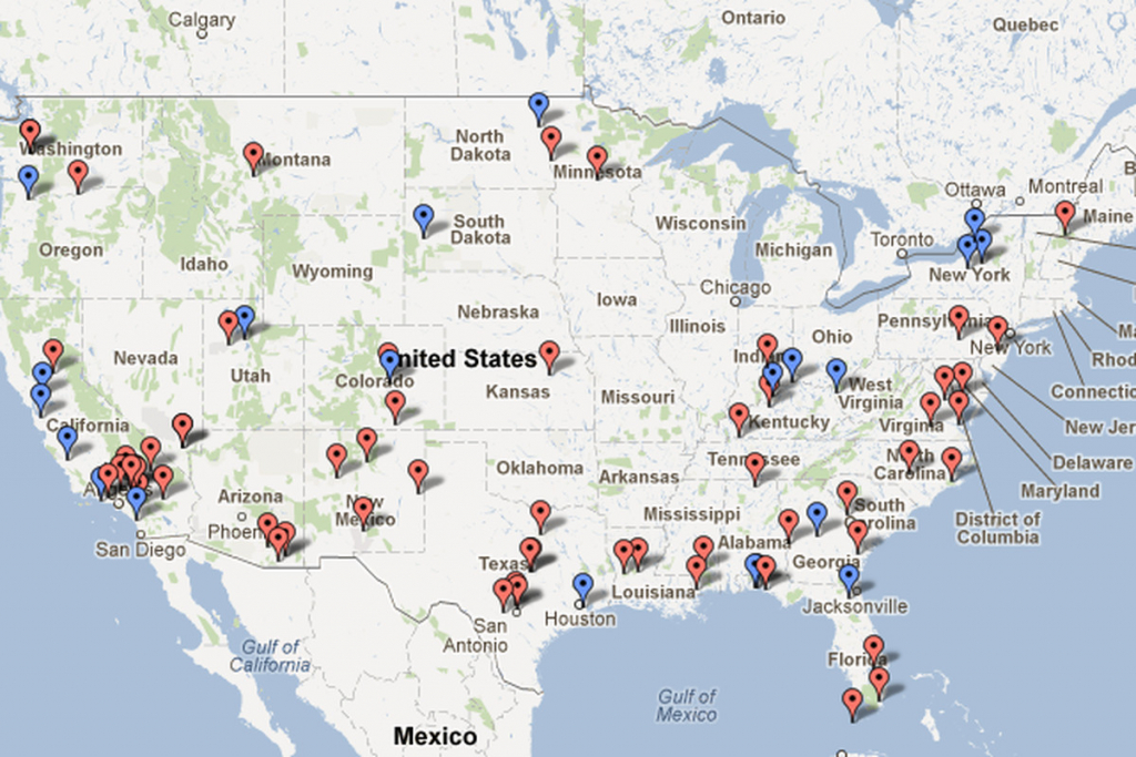 Public Intelligence Identifies 64 Aerial Drone Bases In The Us - The - Map Of Army Bases In California