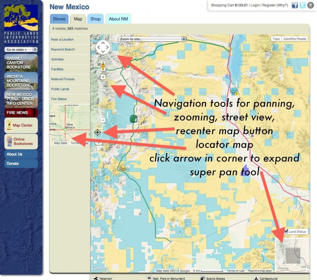 Publiclands   Nevada - California Land Ownership Map