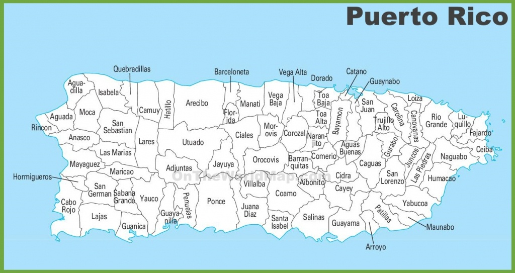 Puerto Rico Maps | Maps Of Puerto Rico - Printable Map Of Puerto Rico