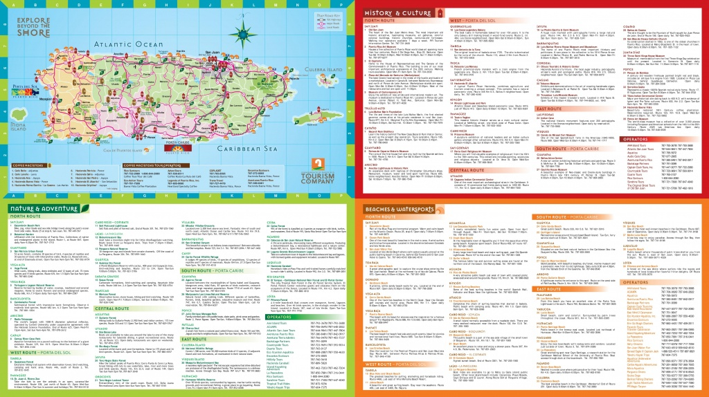 Puerto Rico Tourist Map - Printable Map Of Puerto Rico