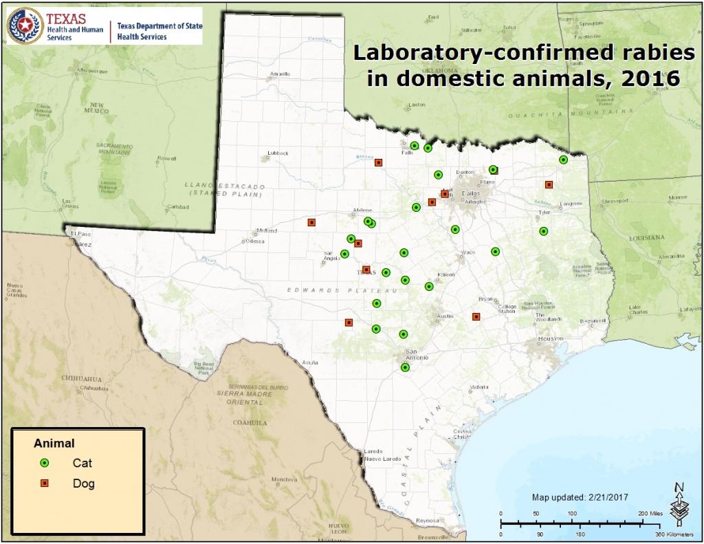 Rabies Maps For 2016 - Aaa Texas Maps