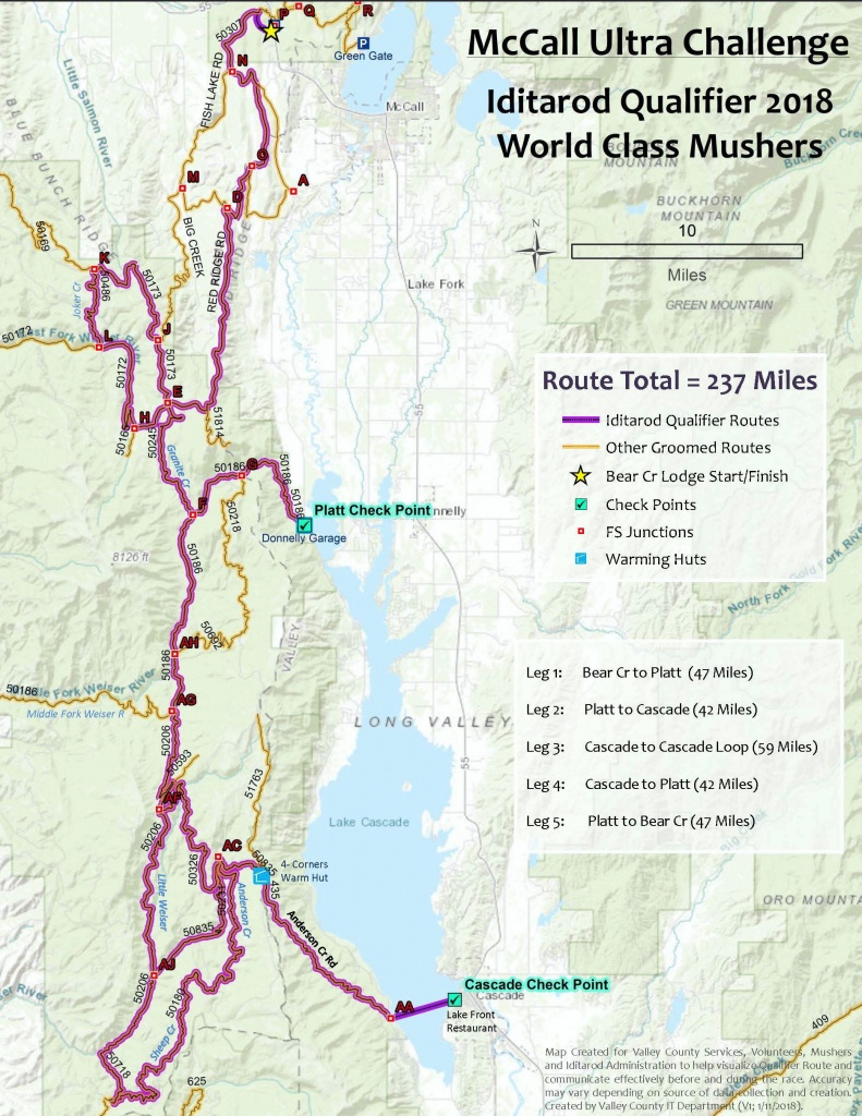 Race - Printable Iditarod Trail Map
