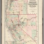 Railroad Map Of Oregon, California, And Nevada.   David Rumsey   Oregon California Map