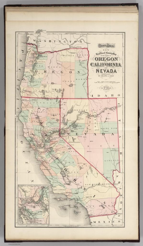 Railroad Map Of Oregon, California, And Nevada. - David Rumsey - Oregon California Map