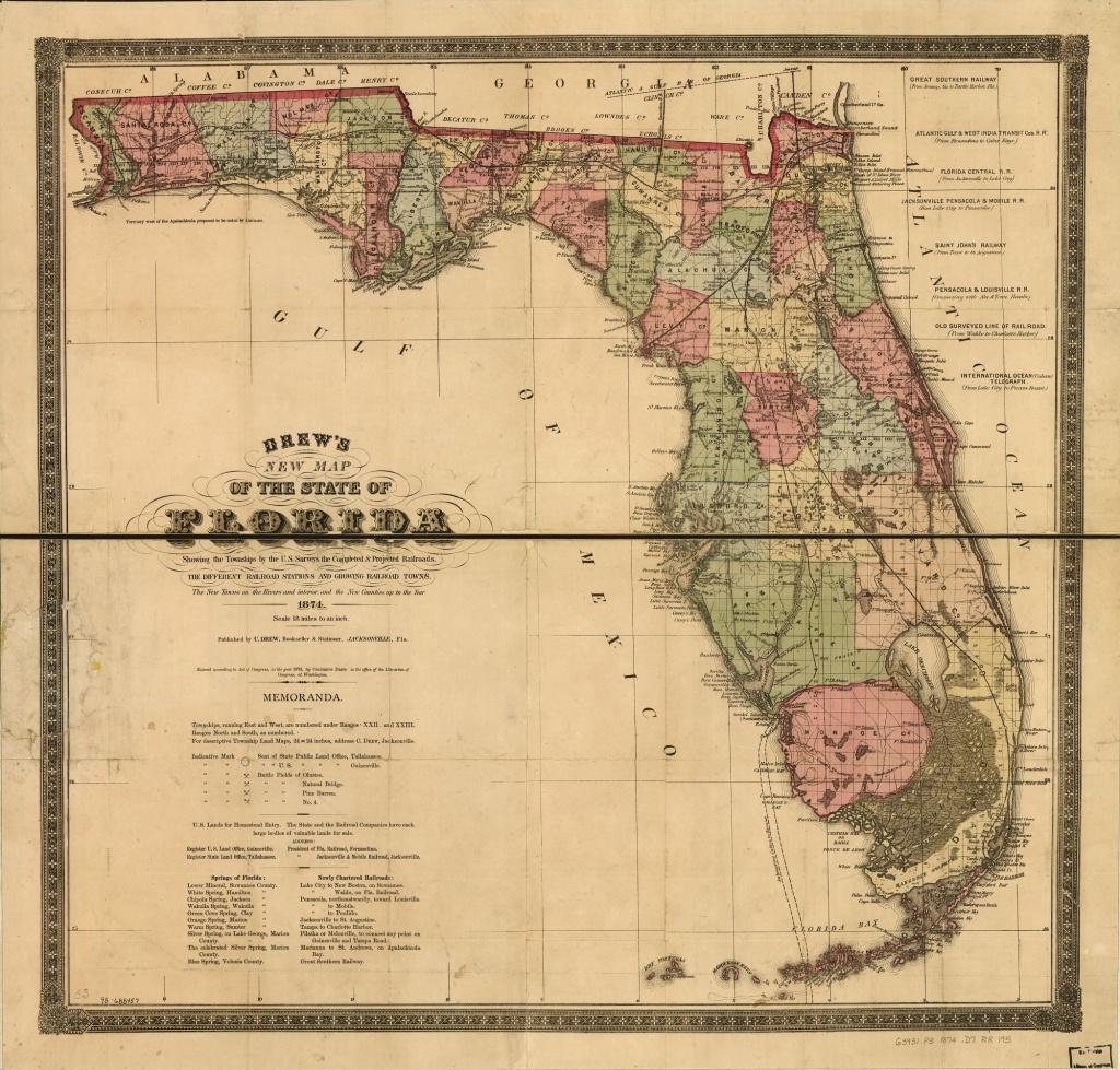 Railroad Maps, 1828 To 1900, Florida | Library Of Congress - Florida Map 1900