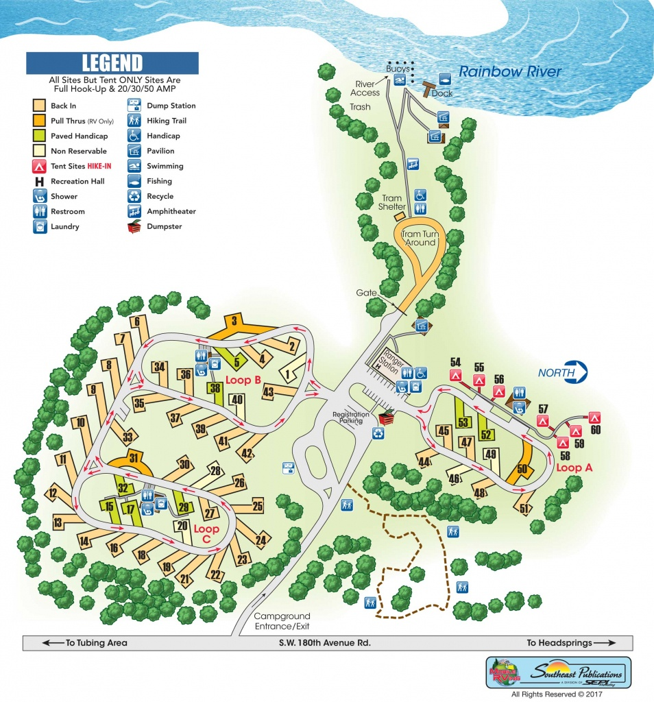 Rainbow Springs State Park Campground Review - Know Your Campground - Florida Tent Camping Map