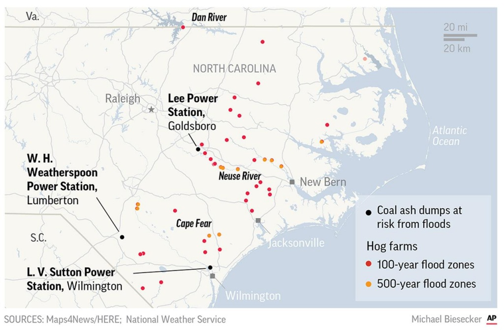 Rains From Florence Cause Collapse At Nc Coal Ash Landfill | Am 1070 - Megan's Law Texas Map