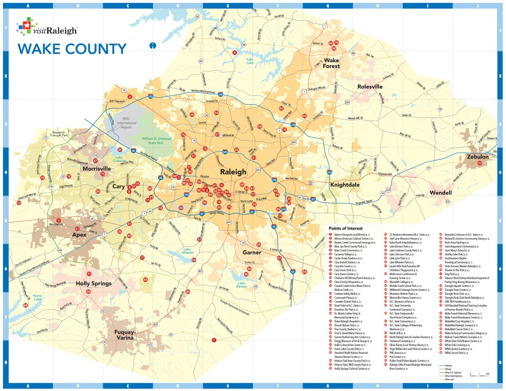 Raleigh, N.c., Maps   Downtown Raleigh Map - Printable Map Of Raleigh Nc
