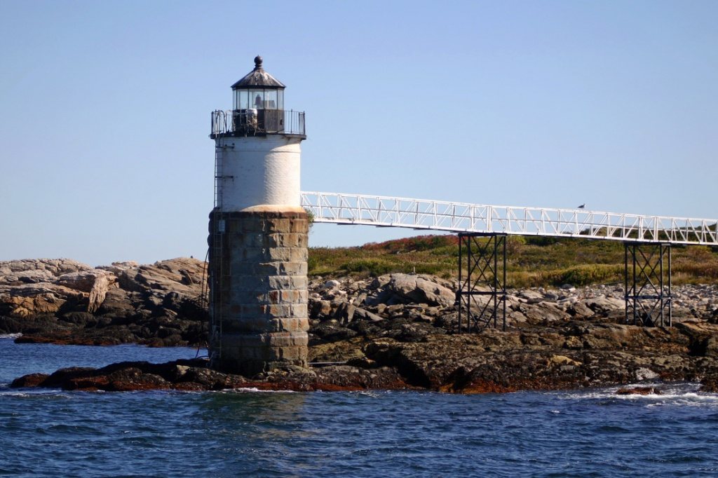 Ram Island - New England Lighthouses: A Virtual Guide - Printable Map Of Maine Lighthouses