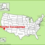 Rancho Cucamonga Location On The U.s. Map   Rancho Cucamonga California Map