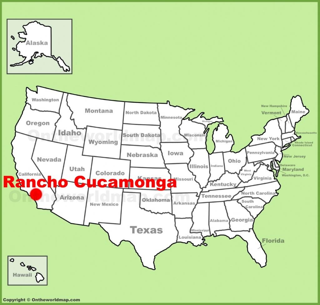 Rancho Cucamonga Location On The U.s. Map - Rancho Cucamonga California Map