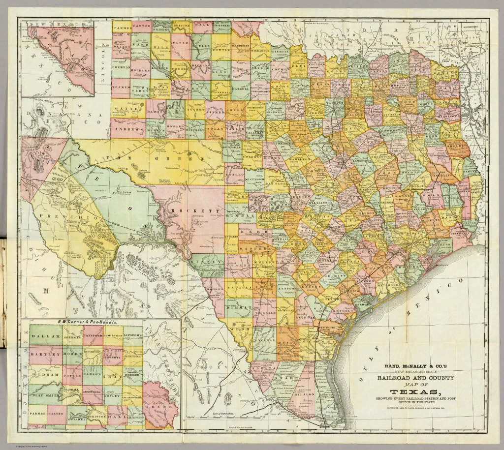 Rand Mcnally  Railroad And County Map Of Texas. / Rand Mcnally - Full Map Of Texas