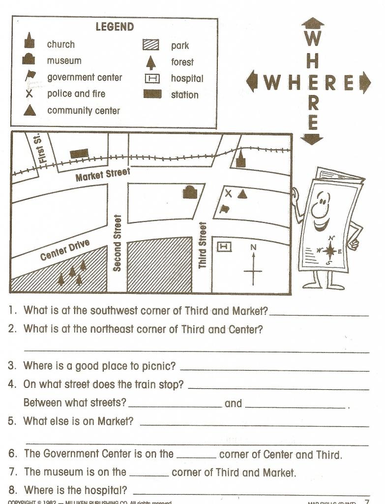 Reading Maps Worksheet Free Worksheets Library Download And - 6Th Grade Map Skills Worksheets Printable
