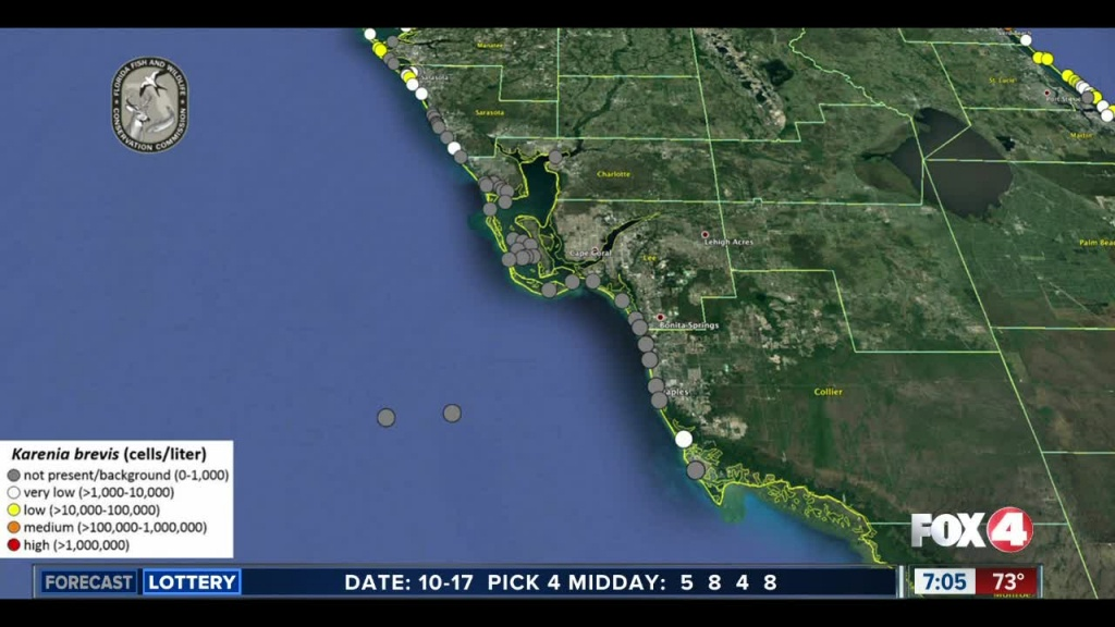 Red Tide Maps Show Few Spots In Southwest Florida - Current Red Tide Map Florida