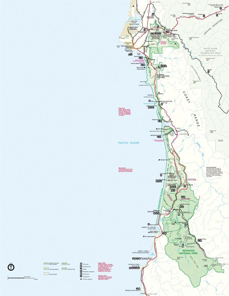 Redwood National Park Map, California - Full Size | Gifex - California State And National Parks Map