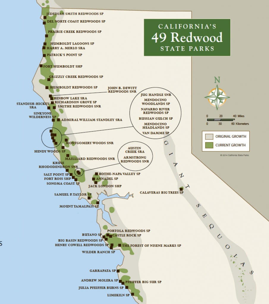 Redwood Parks Day Passes 'sold Out' (2015)   Save The Redwoods League - California Redwoods Map