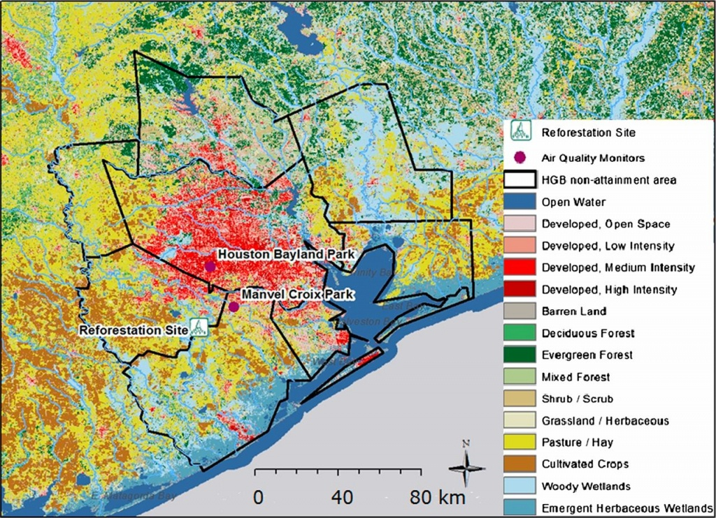 Reforestation As A Novel Abatement And Compliance Measure For Ground - Texas Air Quality Map