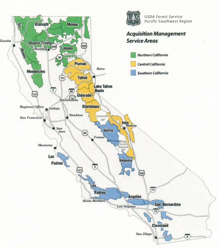 Region 5 - Contracting - Usda Map California