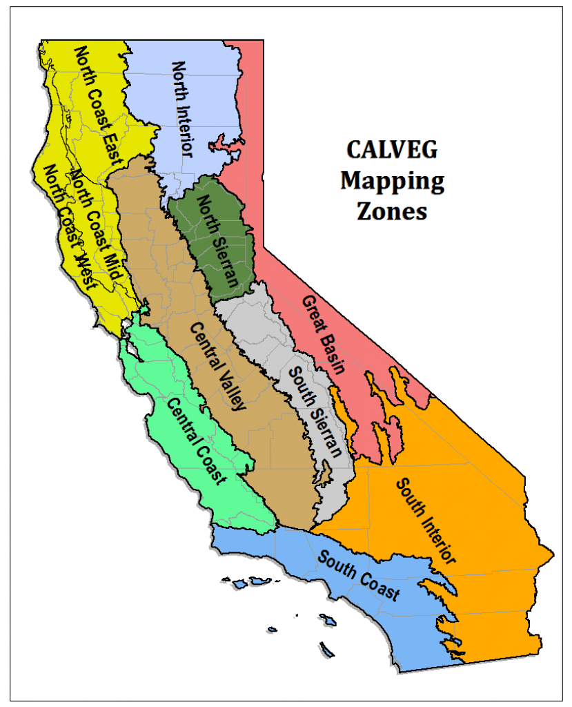 Region 5 - Resource Management - California Forests Map