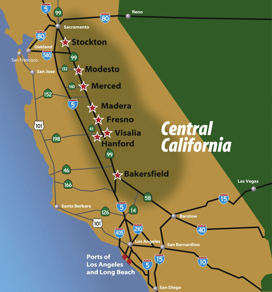 Regional Maps – Central California - Map Of Central California