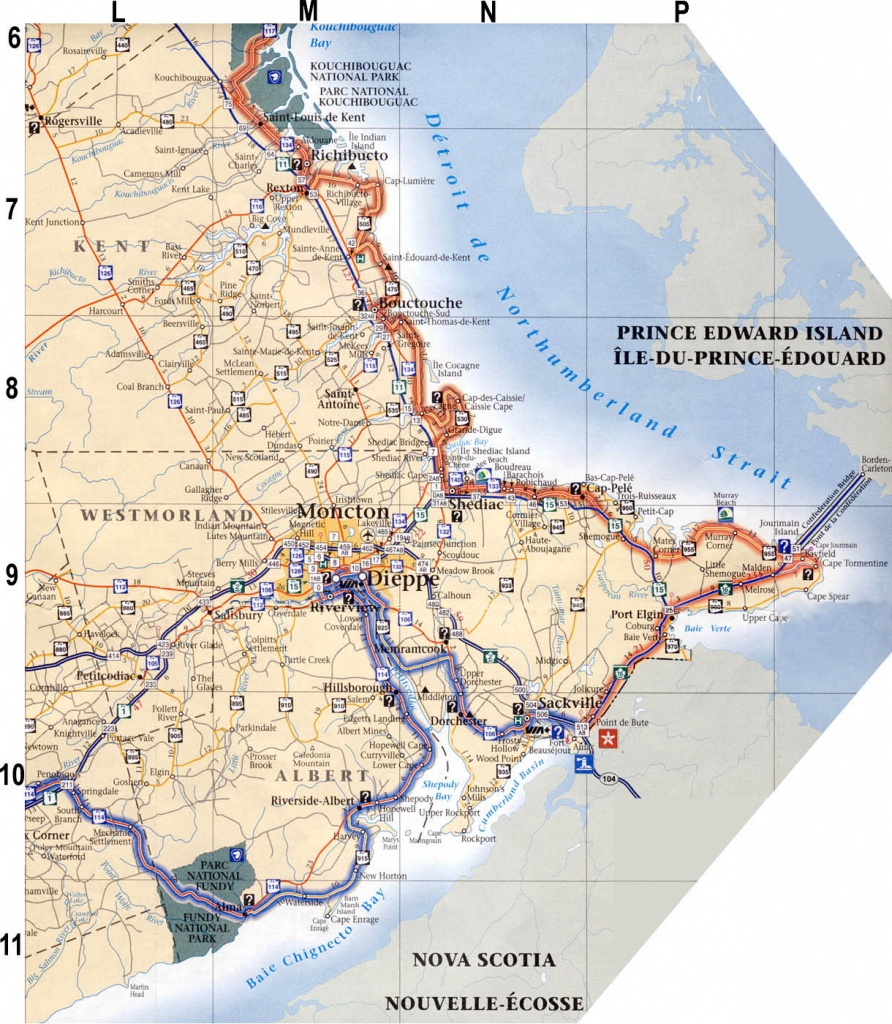 Regional Maps For New Brunswick, Canada - Printable Map Of New Brunswick