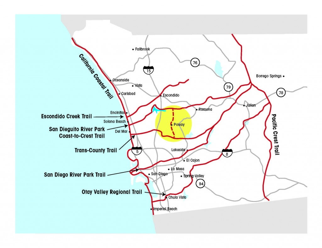 Regional Trails Network - California Coastal Trail Map