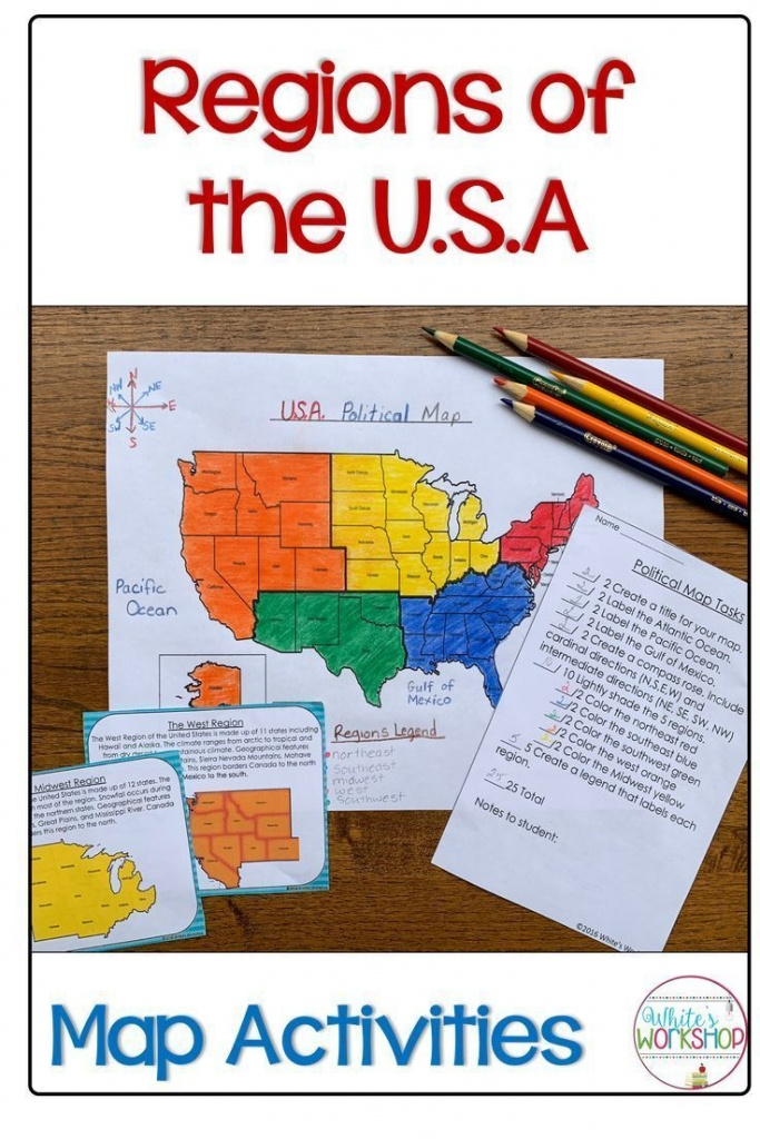 Regions Of The United States Map Activities | My 4Th Grade Favorites - United States Regions Map Printable