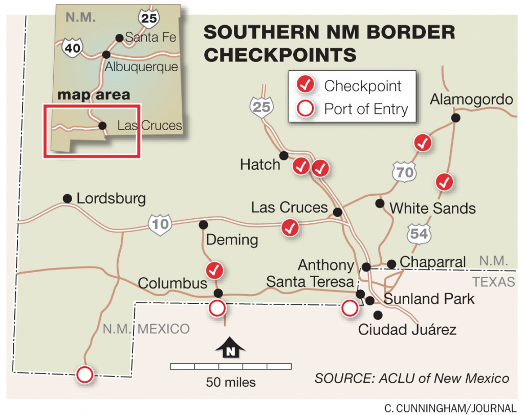 Report Alleges 'abusive Behavior'border Agents » Albuquerque Journal - Immigration Checkpoints In Texas Map