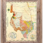 Republic Of Texas Map 1845 Large Framed   Republic Of Texas Map