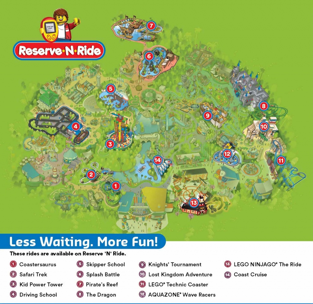 Reserve 'n' Ride System | Legoland California Resort Throughout - Legoland Map California 2018