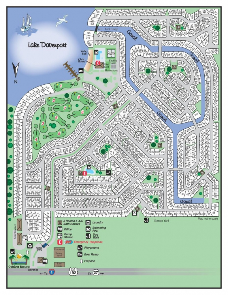 Resort Map | Outdoor Resorts At Orlando - Florida Resorts Map