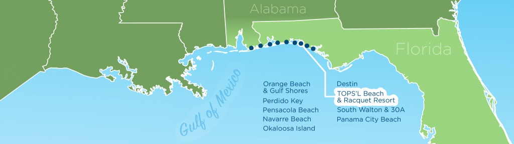 Resortquest Real Estate   Nw Fl & Al Gulf Coast Condos And Homes For - Map Of Alabama And Florida Beaches