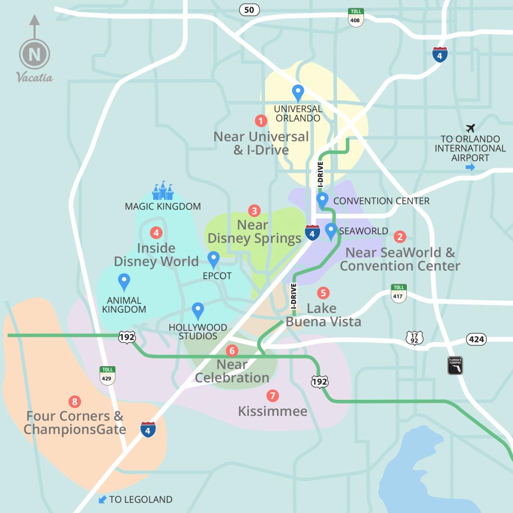 Resorts Near Disney World Orlando | Vacatia - Map Of Hotels Near Universal Studios California
