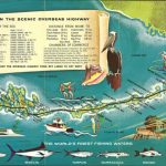 Retro Style 1960S Tourist Map Of The Florida Keys. [2844 × 1278] In   Florida Keys Map Art