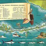 Retro Style 1960S Tourist Map Of The Florida Keys. [2844 × 1278] In   Florida Keys Map Art