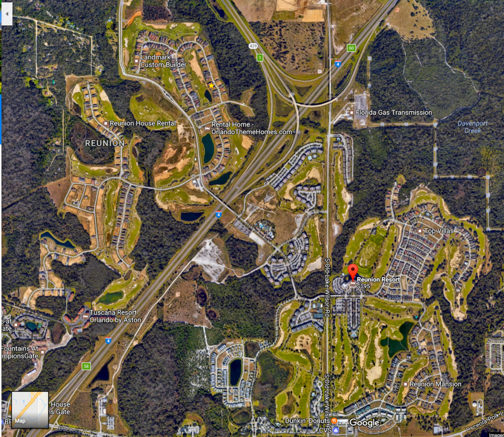 Reunion, Beautifully Odd, Yet So Successful – Total Orlando Realty - Reunion Florida Map