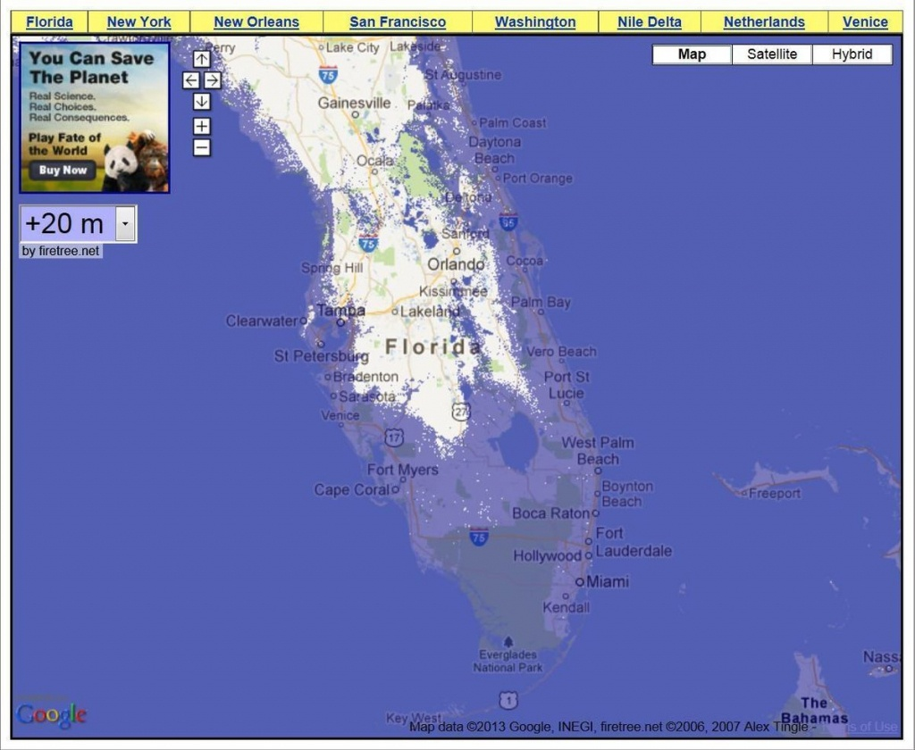 Rising Water Levels In South Florida Will Dramatically Change - Florida Sea Level Rise Map