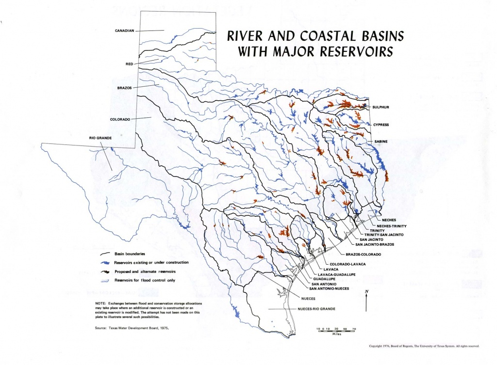 River In Texas Map And Travel Information   Download Free River In - Texas Waterways Map