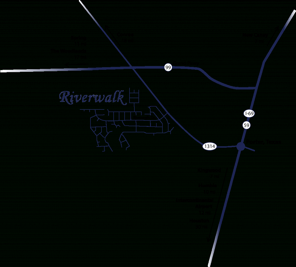 Riverwalk Property Owners Association - Porter Texas Map