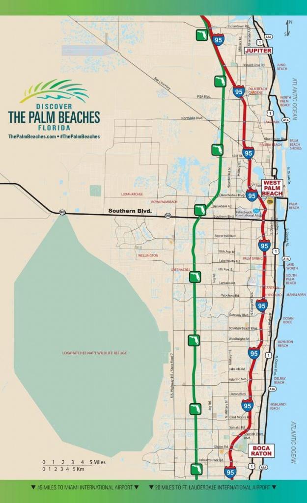 Road Access   The Palm Beaches Florida - Singer Island Florida Map