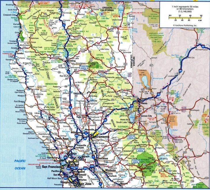 Road Map Of Northern California Coast